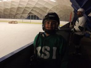 Matthew waiting to hit the ice!