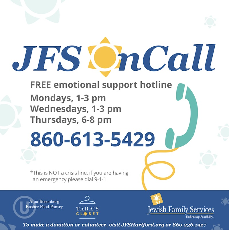 Call JFS' free Emotional Support Hotline