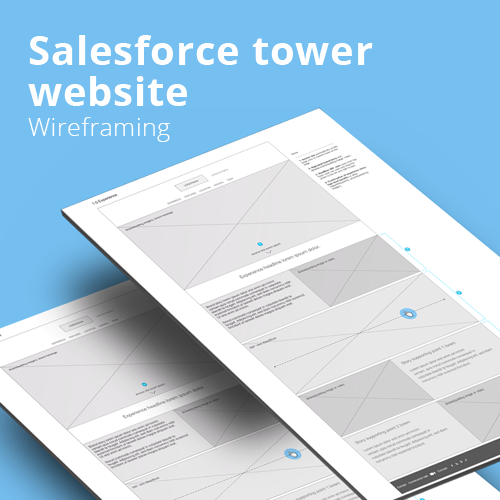 Salesforce Tower Website – Wireframes and Prototyping