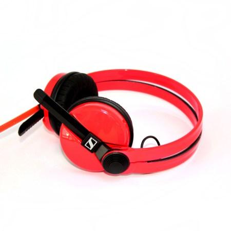 Custom Cans Sennheiser HD25 DJ Headphones in Neon UV Fluorescent Red (2 year warranty)