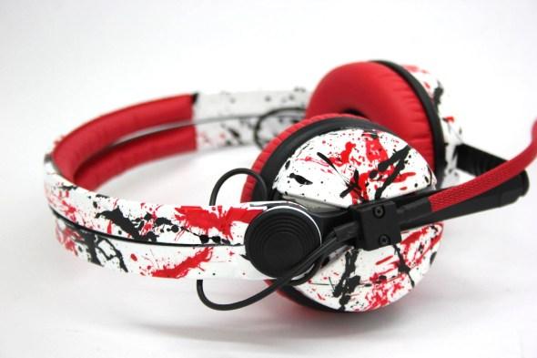 Customise splatter pattern Sennheiser HD25 DJ Headphones with your name -2779