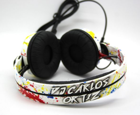 Customise splatter pattern Sennheiser HD25 DJ Headphones with your name -2778