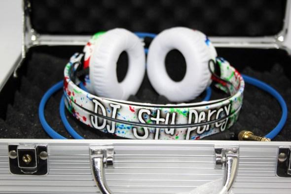 Customise splatter pattern Sennheiser HD25 DJ Headphones with your name -2772