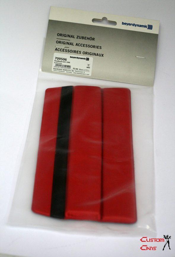 Beyerdynamic Custom One Pro Synthetic Leather Headband Padding Red-1508