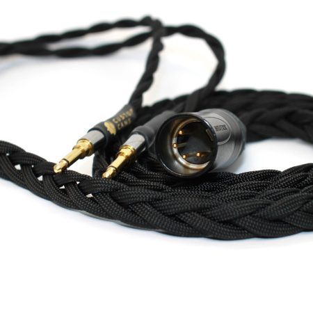 Ultra-low capacitance cable with balanced connection for headphones that take slim extended 3.5mm jacks (Beyerdynamic T1, T5P Gen 2, Amiron Home, Audeze Sine)