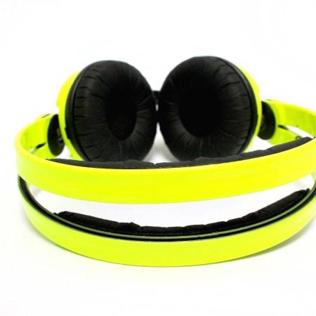 Custom Cans Neon UV Fluorescent Yellow Sennheiser HD25 DJ Headphones with 2yr warranty