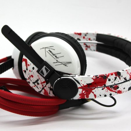 High Gloss White Sennheiser HD25 with Your Logo image on the earcup