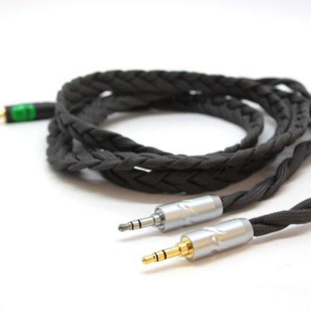 Ultra-low capacitance balanced litz cable with 2 x 3.5mm TRS jacks for Denon headphones (AH-D600, AH-D7200, AH-D7100, AH-D9200, AH-D5200)