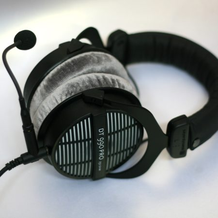 Custom Cans DT990 Modified Gaming Headphones with Microphone and Detachable Cable (3.5mm / 6.35mm TRS jack)