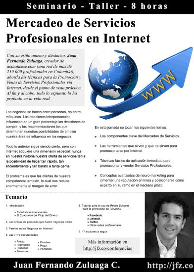 Mercadeo De Servicios Profesionales Por Internet - Brochure