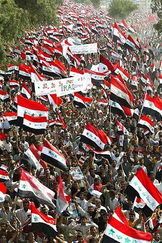 Demo im Irak zum 4 Jahrestag der US-Invasion