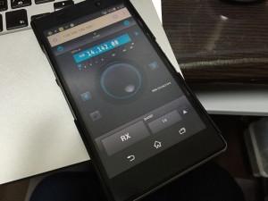 XPERIA Z1で検証中のGUI