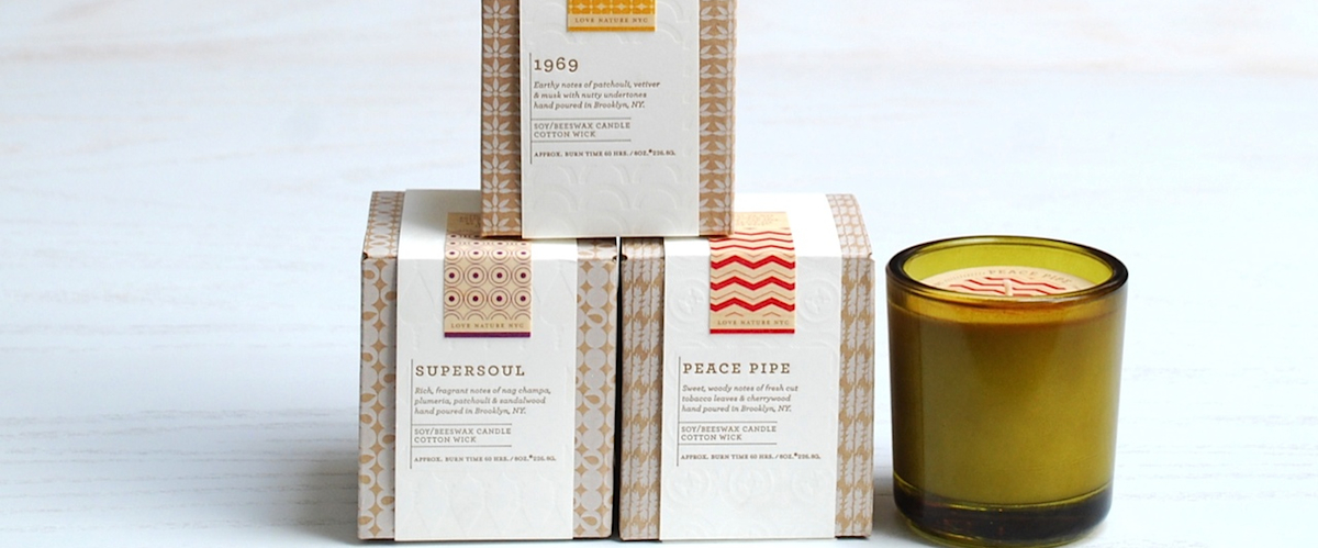Transcentdence Candle Collection by Love Nature NYC, JG & CO.