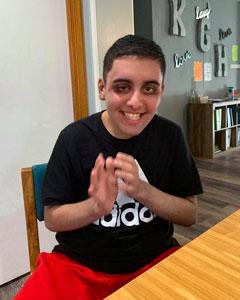 Aidan at table
