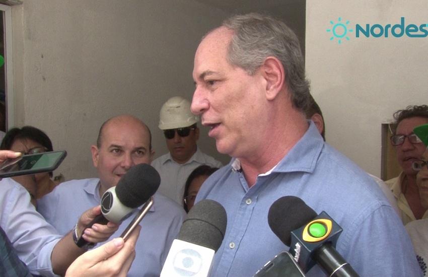 """""""Voto no Cid e vou procurar outro candidato"""", diz Ciro, reforçando hostilidade a Eunício"""