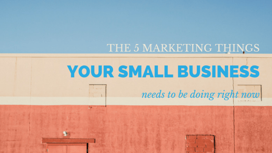 5 Marketing things Small Businesses Need to be Doing