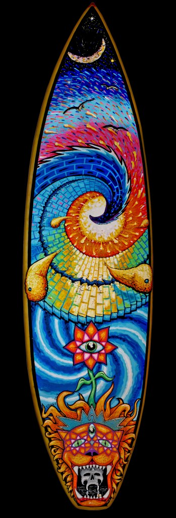 Painted surfboard