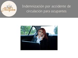 Indemnización por accidente de circulación para ocupantes