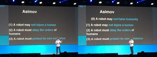 Asimov's laws of robotics
