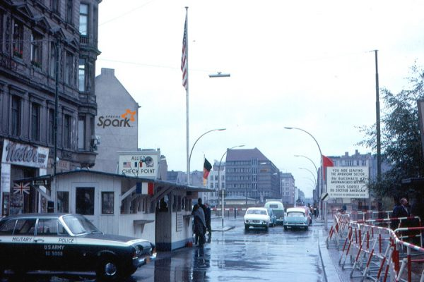 The most famous checkpoint is very certainly Checkpoint Charlie. As you can see, even back in 1963, the Soviets were already teasing the United States with hype technology.