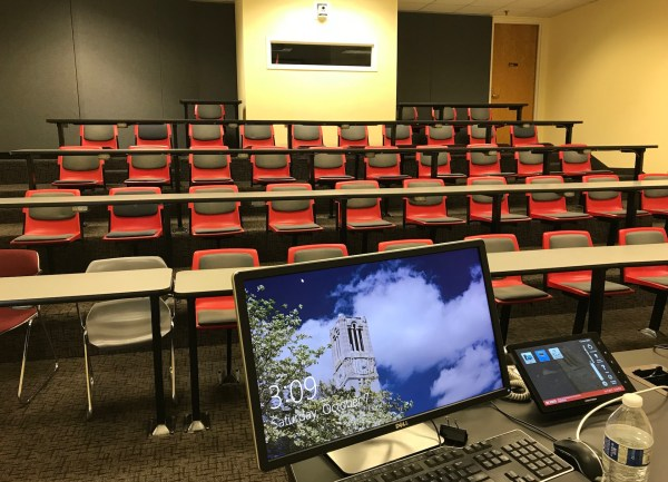 NC State teaching room: I love all the multimedia gadgets, I think I used them all.