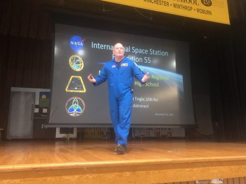NASA Astronaut and Ret. Navy Capt. Scott Tingle visited students at Northeast Metro Tech on Tuesday, Nov. 26. (Courtesy Photo Northeast Metro Tech)