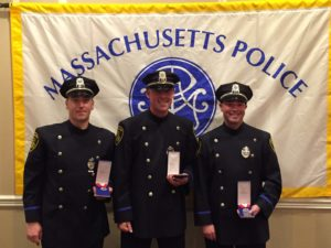 Arlington Police Officers Mike Foley, Scott Paradis, and Brett Blanciforti received Medals of Valor on Thursday. (Arlington Police Photo/Courtesy)