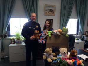 Melrose Police Chief Michael L. Lyle and Project Smile's Catherine Pisacane met on Tuesday, Feb. 6. (Melrose Police Courtesy Photo)