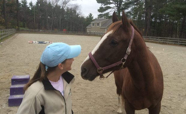 Chief Ryder's wife, Cynthia, with her horse, Jude.