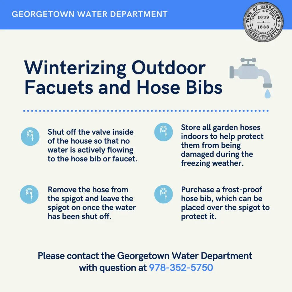winterize outdoor hose bibs and faucets