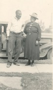 Roy Hayes with Aunt Annie or Daisy's Mother