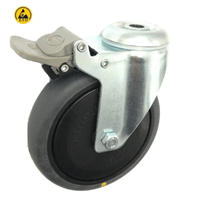 377 Series - Grey Conductive (ESD) Bole Hole Castors