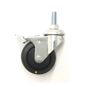 370 Series - Black Conductive (ESD) & Grey Thermoplastic Rubber (TPR) Bole Hole Castors