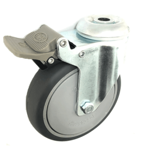 377 SERIES - GREY RUBBER (TPR) BOLE HOLE CASTORS