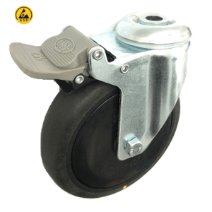 377 Series - Black Conductive (ESD) Bole Hole Castors
