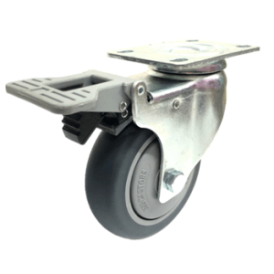 433 Series - Thermoplastic Rubber  (TPR) Top Plate Castors