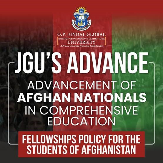 O.P. Jindal Global University Announces ADVANCE Fellowships for the Students of Afghanistan