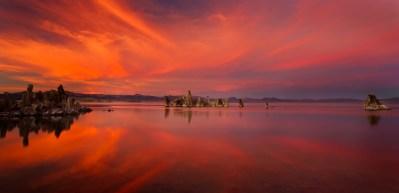 Mono Lake Fiery Sunset