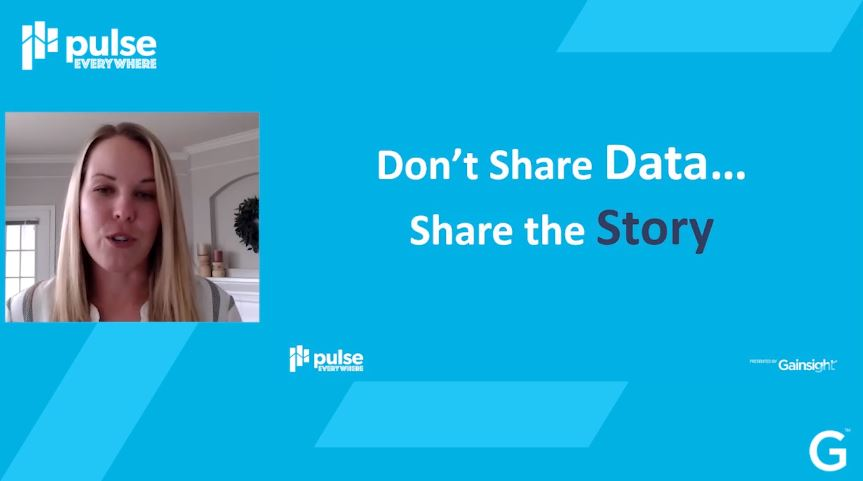 Don't share the data, share the story