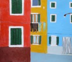 My little Burano, colorful street