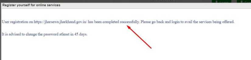 Successfully JharSewa Portal Registration Process Complete
