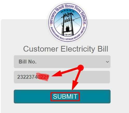 Jharkhand Bijli Bill Check by Bill Number