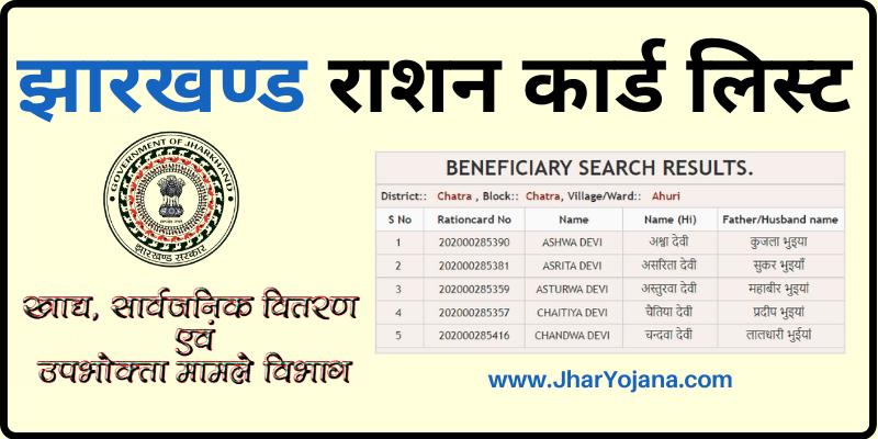 New Jharkhand Ration Card List ग्राम पंचायत राशन कार्ड सूची Jharkhand