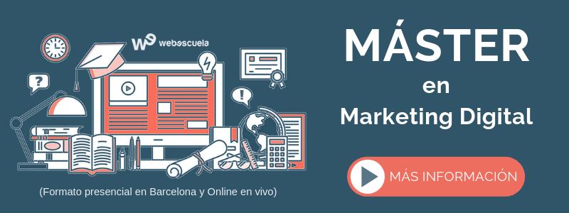 Máster Online en Marketing Digital de Webescuela