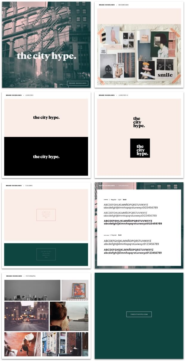 manual identidad the city hype