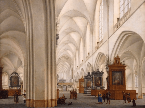 Interior of the Bavo Kerk, Haarlem (Fitzwilliam Musem). Photo by author.