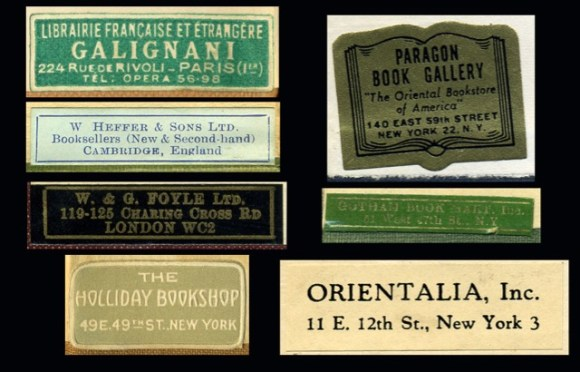 Booklabels in the Sharaff/Sze Collection, New York Society Library