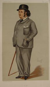 A caricature of Oscar Browning from Vanity Fair, 1888 (Wikimedia Commons)
