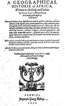 LeoAfricanus-JohnPory-GeoHistorieAfrica-1600