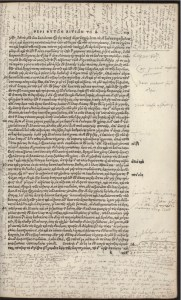 Casaubon's scattered marginal notes. By permission of the Special Collections of the University of Amsterdam. Shelf mark: OTM: Hs VII D17.